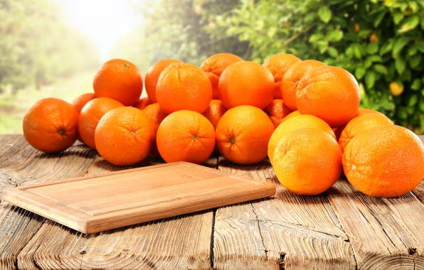 Picture background, oranges, Board, citrus