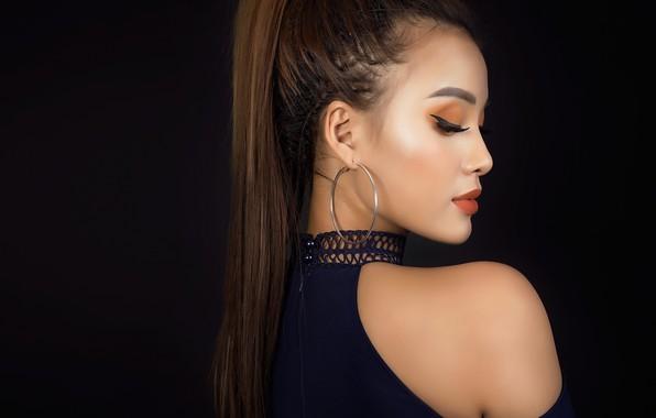 Picture face, model, makeup, profile, beauty