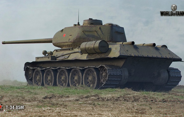 Picture T-34, WoT, World of Tanks, Soviet tank, Wargaming, T-34-85M