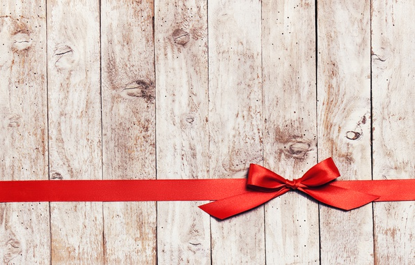Picture red, tree, tape, bow, wood