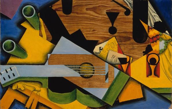 Picture cubism, 1913, Juan Gris, Still life with guitar