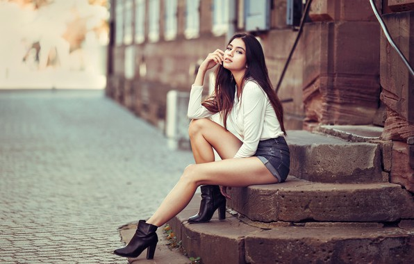 Picture girl, stage, legs, Lods Franck, Leana