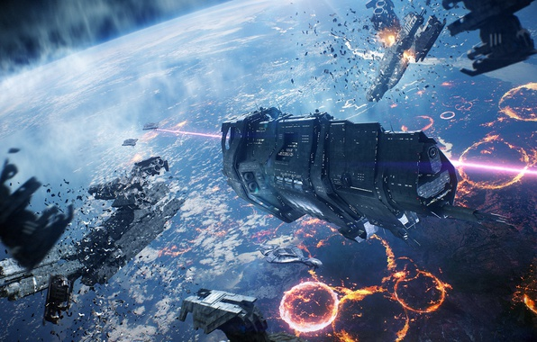 Wallpaper Spaceship Covenant Halo Reach Space Battle