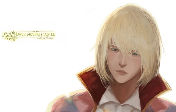 Picture face, white background, guy, bangs, Howl's Moving Castle, Howl, Howl's Moving Castle, Howl no Ugoku …