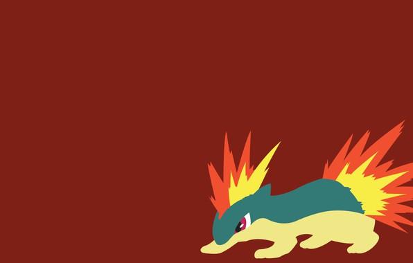 Picture fire, element, the volcano, fire, flame, fire, pokemon, pokemon, Quilava, Quilava, #156