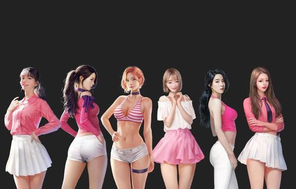 Picture girl, mood, art, Asian, J.Won Han, berry good
