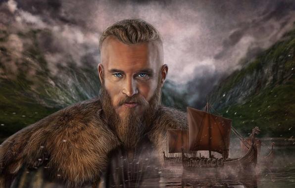 Photo Wallpaper Viking Art Edit Vikings Ragnar Lodbrok Lothbrok Drakkar