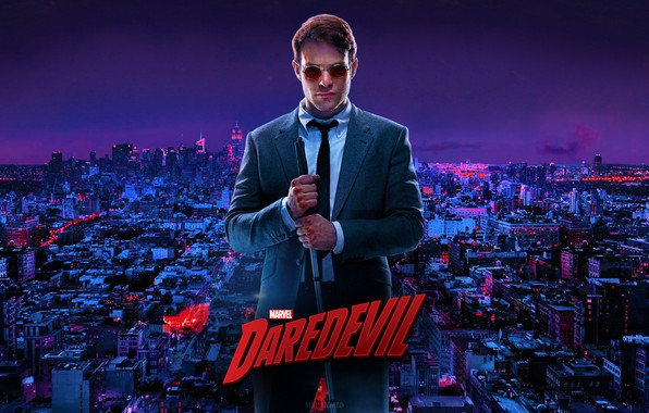 Picture The city, Glasses, Costume, Building, City, Actor, The series, Hero, Superhero, Hero, Marvel, Wounds, Daredevil, …