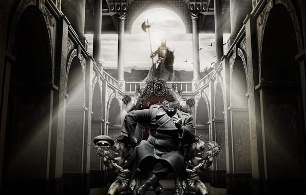 Picture horse, knight, the throne, dolar, BossLogic, Need For Greed