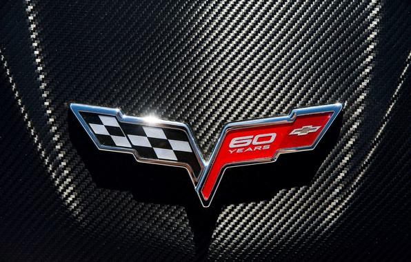 Wallpaper logo, emblem, Chevrolet Corvette images for desktop, section chevrolet - download