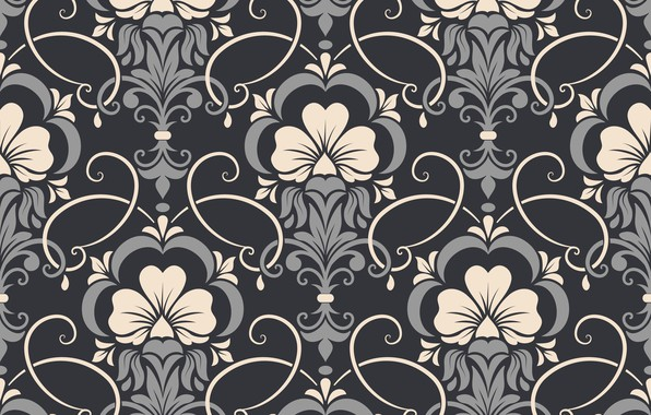 Picture flowers, background, pattern, vector, texture, texture, background, pattern, seamless, damask