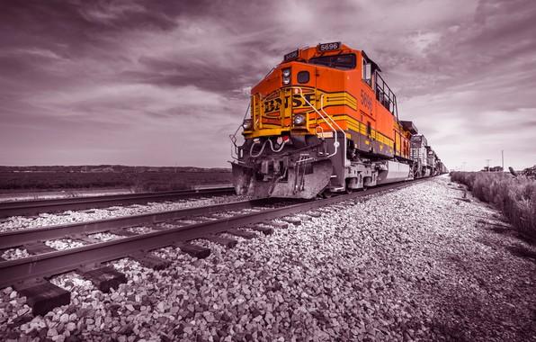Picture rails, train, railroad, locomotive