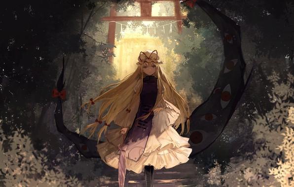 Picture girl, anime, art, touhou, strikingly is wait, thkani