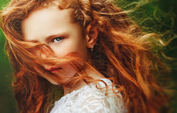 Picture look, face, hair, portrait, girl, red, redhead