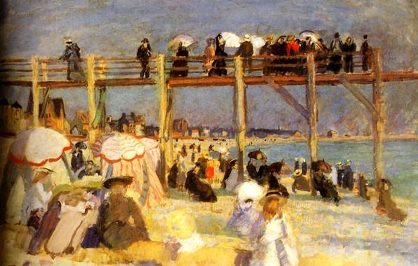 Picture Paris, 1904, Huile sur Toile, The Beach of Sainte-Adresse, MusВe national d'art moderne, The Beach …