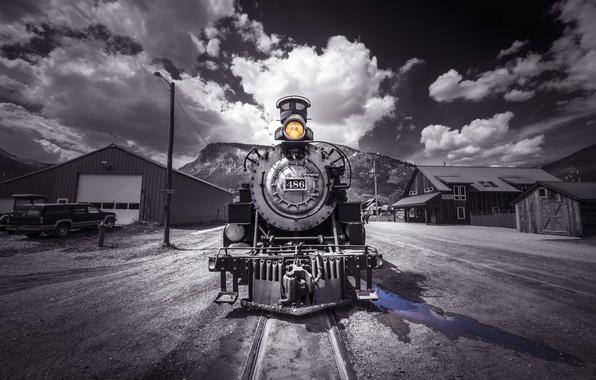 Photo wallpaper railroad, the engine, train