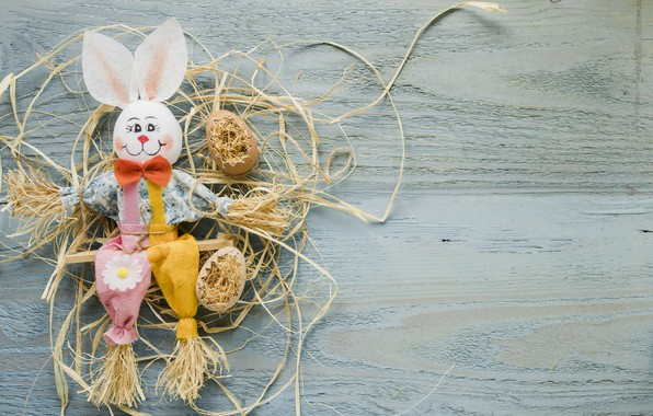 Picture holiday, spring, rabbit, Easter, wood, rabbit, decor, Easter, eggs