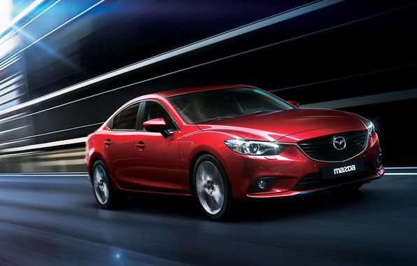 Picture Auto, Speed, Mazda, Mazda 6, Burgundy