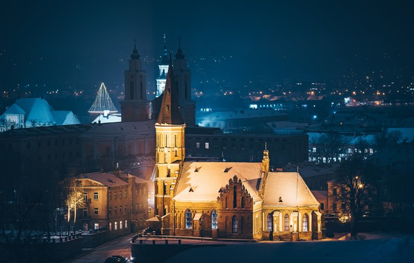 Picture night, the city, Lithuania, Kaunas