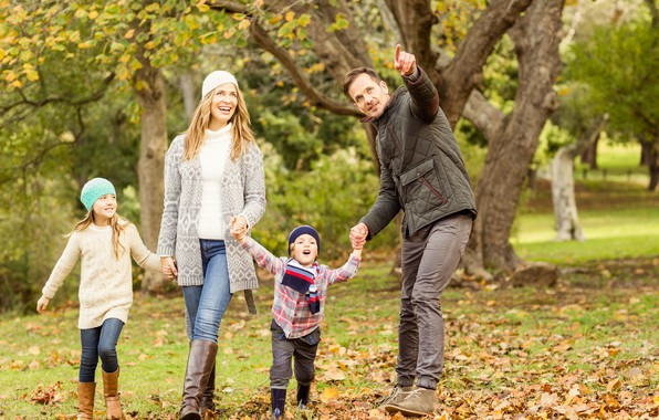 Picture Nature, Children, Family, Walk, Parents
