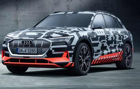 Picture Audi, Prototype, 2018, electric, E-Tron