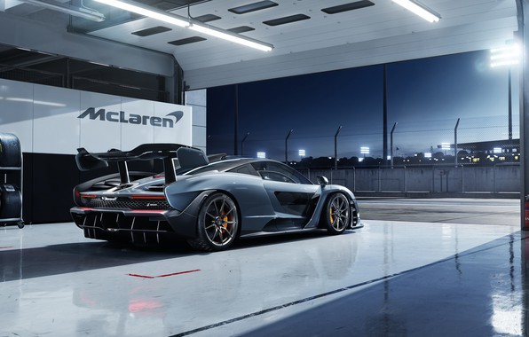 Picture McLaren, 2018, Senna, racing Boxing, Victory Grey