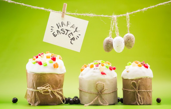 Picture eggs, Easter, cake, cake, spring, Easter, eggs, decoration, Happy