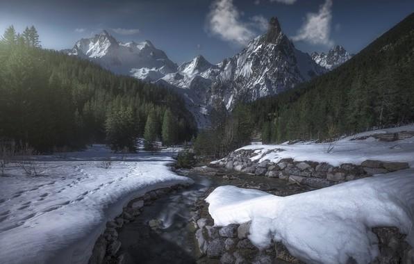 Photo wallpaper mountains, France, Savoie