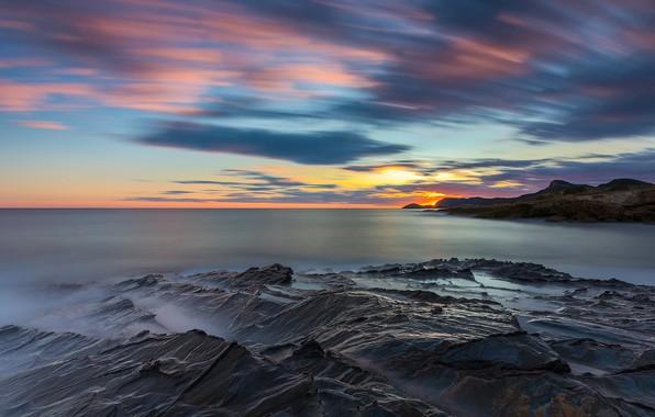 Picture sunset, coast, Spain, Murcia