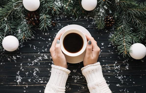 Picture balls, heat, tree, coffee, hands