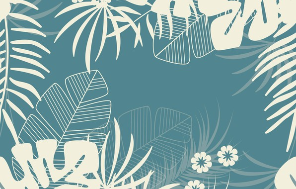 Picture background, Flowers, Leaves, Pattern, Texture, Berezovy