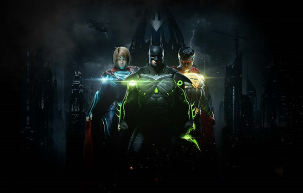 Picture Kara Zor-El, Linda L. Danvers, Supergirl, Kal-El, Gotham, Injustice 2, Bruce Wayne, bat, Superman, Batman, ...