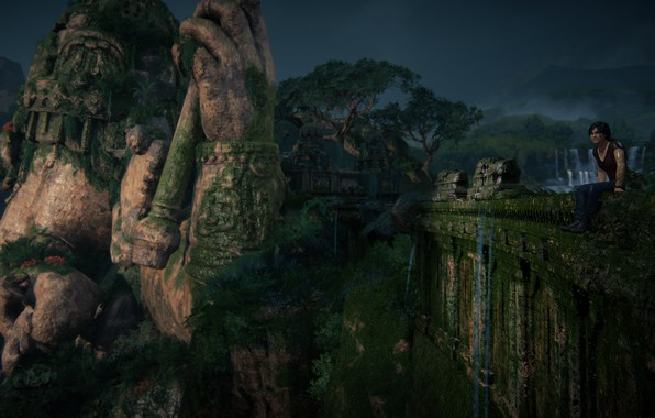 Uncharted Lost Legacy Wallpaper: Wallpaper Nature, Uncharted, Statue, Chloe Frazer