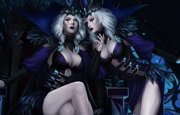 Picture girl, wine, glass, beauty, art, lol, League of Legends, riven, moba
