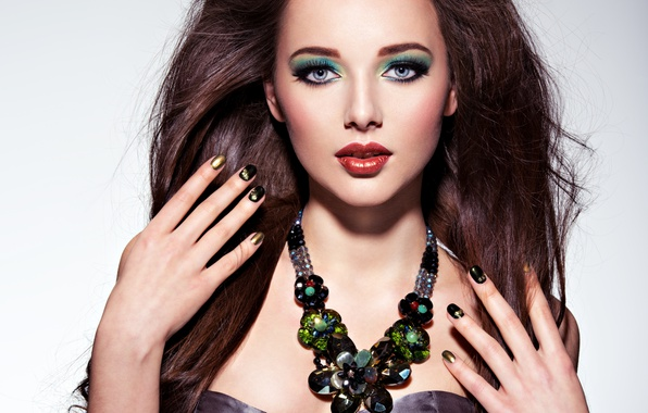 Picture model, brunette, look, female, make up