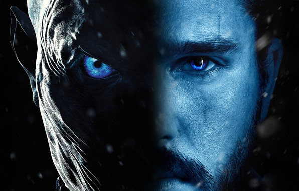 Picture zombie, blue eyes, movie, face, A Song of Ice and Fire, Game of Thrones, film, …