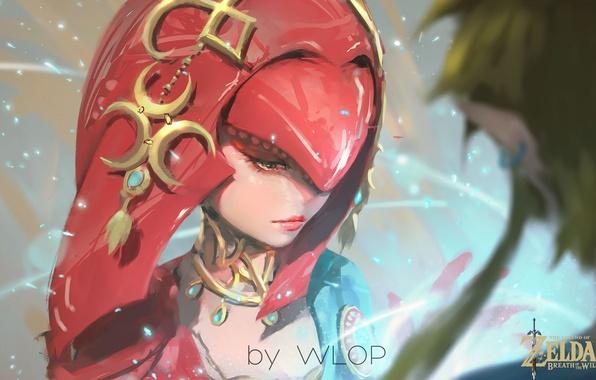 Breath Of The Wild Screensaver: Wallpaper Girl, Fantasy, Game, Magic, Painting, Digital