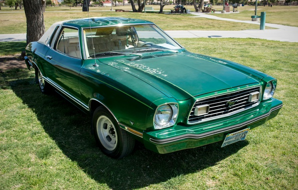 Picture style, retro, Ford Mustang, 1977