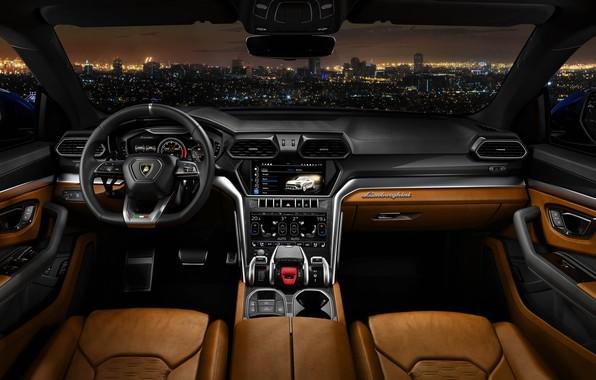 Picture Road, Lamborghini, Interior, 2018, Urus