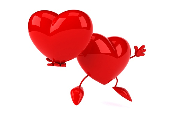 Picture heart, red, heart, funny, rendering, 3D Art