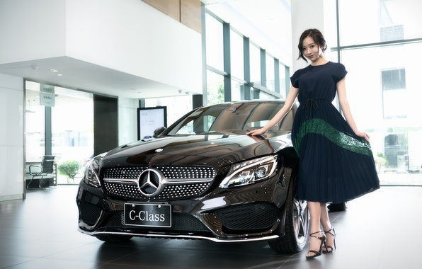 Picture white, Mercedes-Benz, dress, Asian, Mercedes, C-Class
