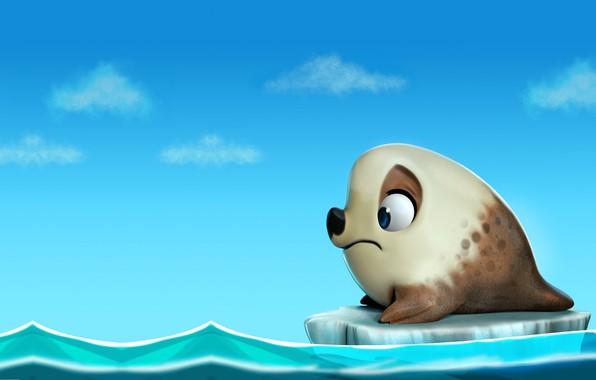 Picture the ocean, seal, art, floe, ., Seal, darlon ximenes