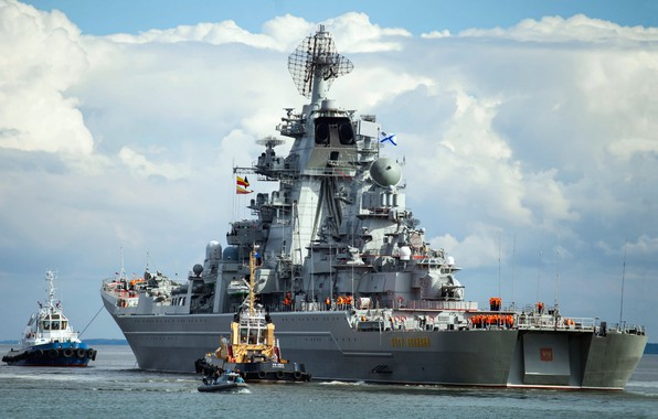 Picture cruiser, heavy, atomic, rocket, the project 1144, Peter the great