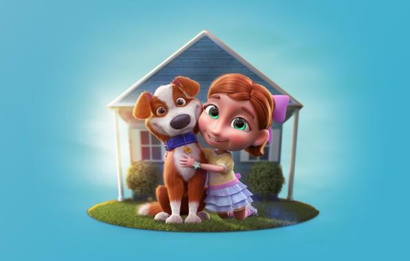 Picture summer, dog, art, girl, booth, children's, Character Logo - Terra nobre, Daniel Linard
