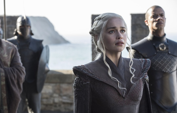 Picture army, A Song of Ice and Fire, Game of Thrones, blonde, queen, Emilia Clarke, Daenerys …