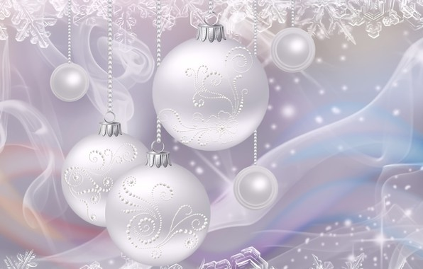 Picture snowflakes, rendering, holiday, figure, New year, picture, Christmas decorations, silver background, pearl light