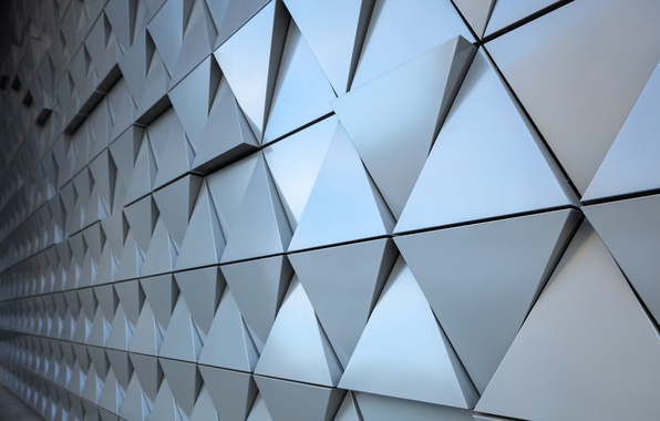 Photo wallpaper abstract, wall, design, texture, triangle, background, steel, triangle
