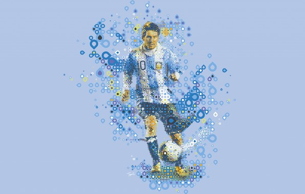Picture vector, player, Lionel Messi, Lionel Messi, low poly