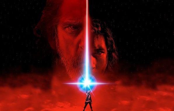 Picture cinema, Star Wars, red, eyes, stars, man, movie, face, film, jedi, Luke Skywalker, Rey, Daisy …