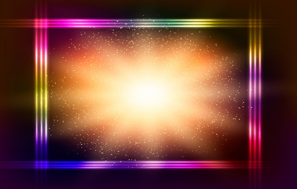 Picture colorful, abstract, background, neon, glittering